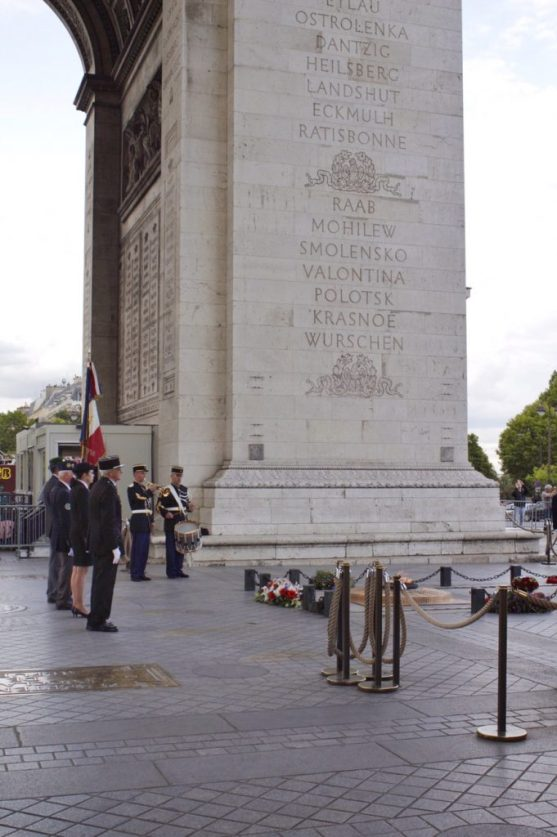 Ceremony at the Arc de Triomphe in Paris France