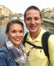 Standing on the Ponte Vecchio in Florence, Italy
