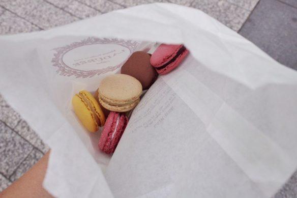 Macarons from Laduree in Paris France