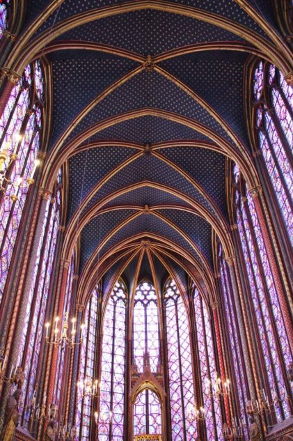 Stained glass inside Sainte-Chapelle