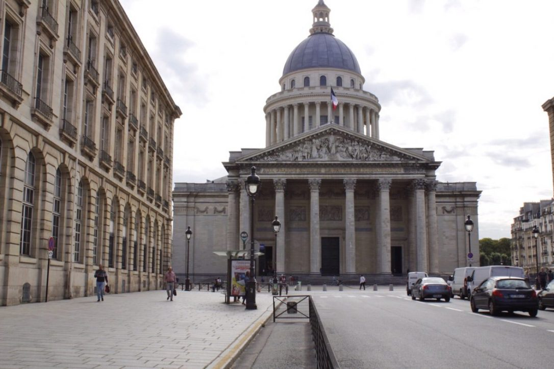 Outside the Pantheon in Paris