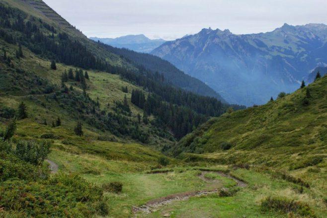 Trail from Murren to Winteregg Switzerland
