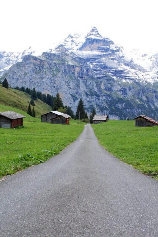 Hiking the Trail from Murren to Winteregg Switzerland