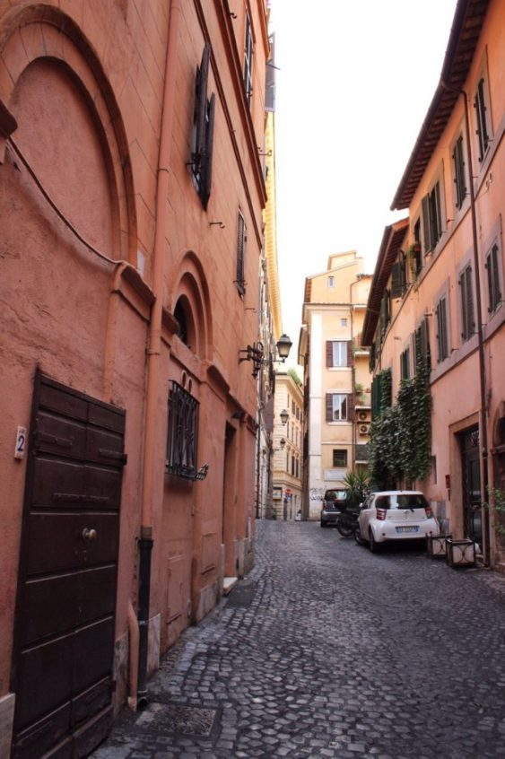The alley where our Airbnb was in Rome Italy