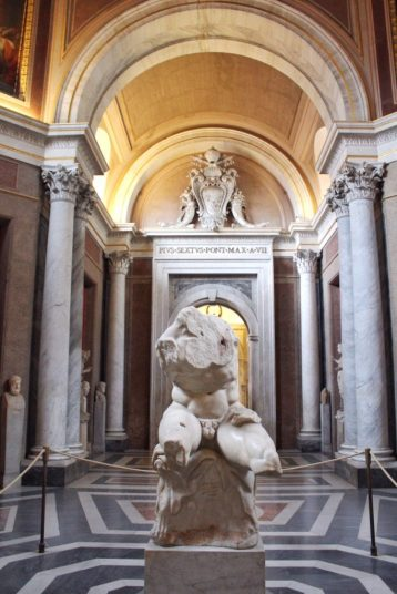 The Belvedere Torso at the Vatican museum in Rome Italy