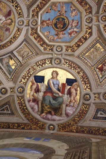 Raphael painting at the Vatican museum in Rome Italy