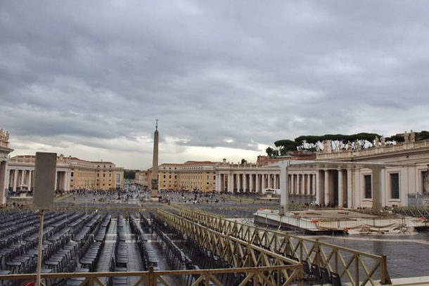View from St. Peter's Basilica in Rome Italy