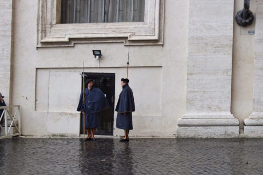 Changing of the guard at the Vatican in Rome Italy
