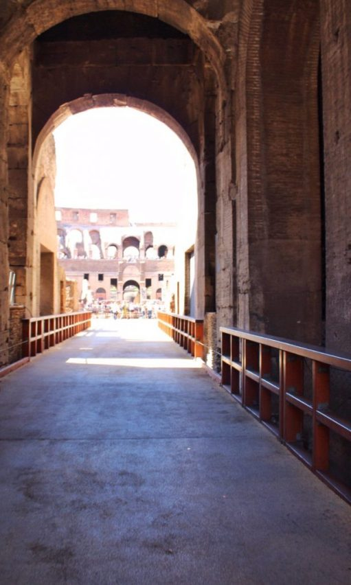 Walking inside the Colosseum in Rome, Italy