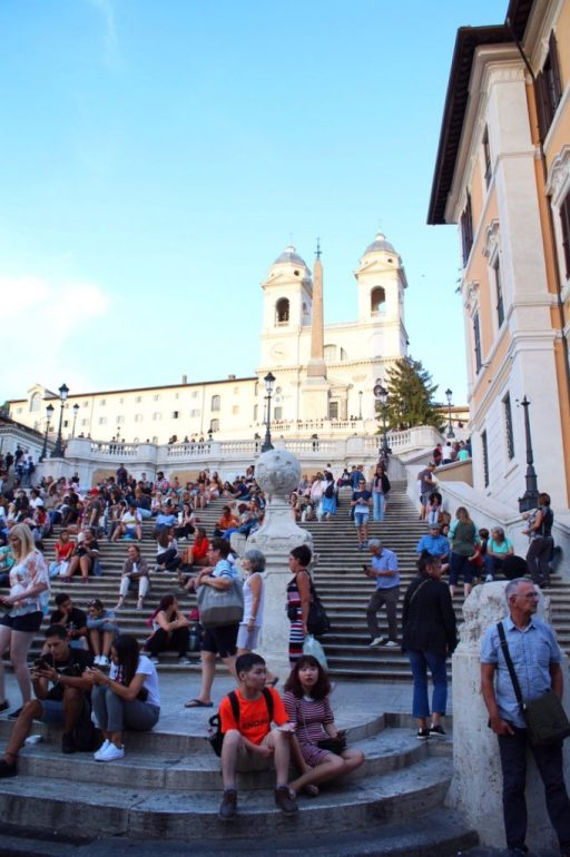 The Spanish Steps in Rome Italy