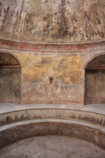 Inside the ruined city of Pompeii Italy