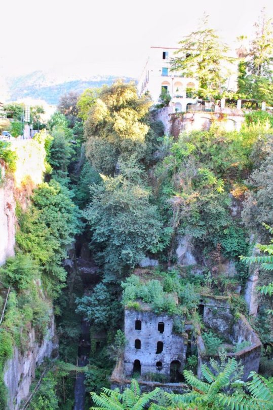 Ruins of a mill in Sorrento, Italy