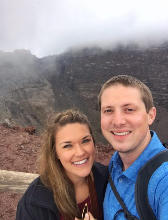 Eric and Lauryn on top of Mount Vesuvius in Italy