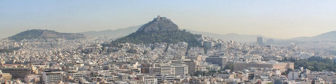 View from the Acropolis Athens Greece