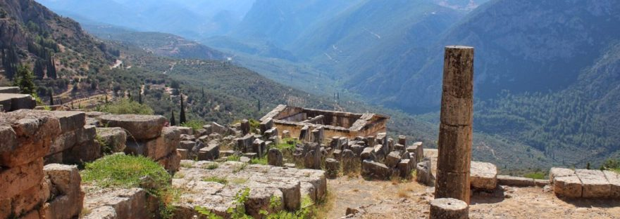 View from the ruins of Delphi in Greece
