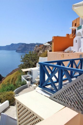 View from balcony in Airbnb - Oia, Santorini