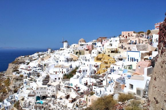 View of Oia from a lookout point