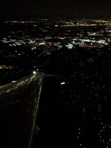 View of Atlanta at night from the plane