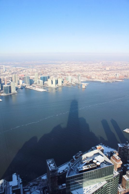 View of New Jersey from One World Observatory