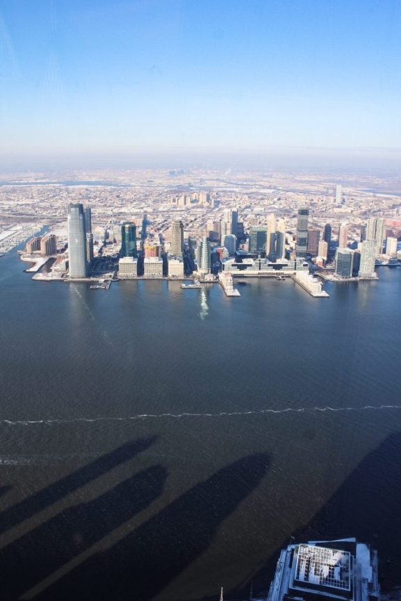 view of New Jersey from One World Observatory - New York