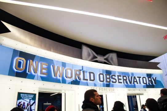 One World Observatory sign