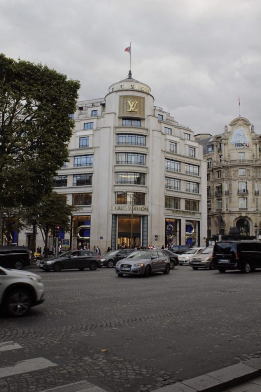 Louis Vuitton Flagship Store on the Champs Elysees