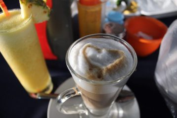 Latte complete with a heart