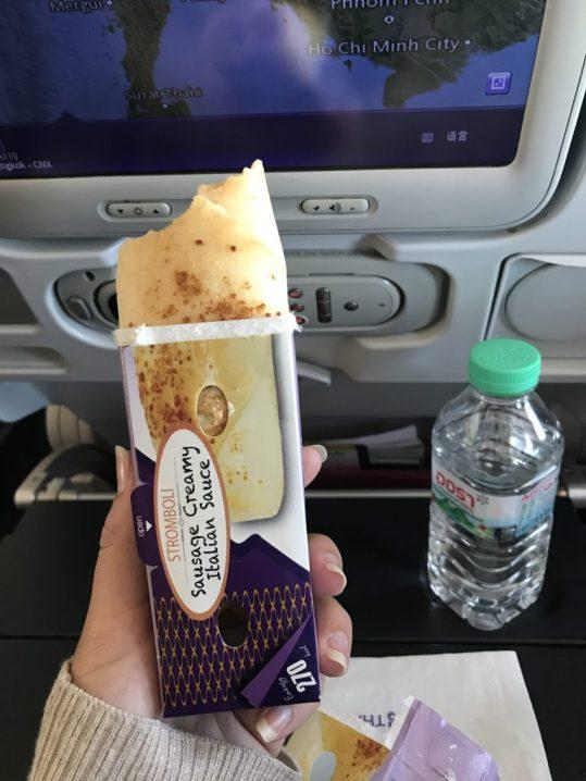 Stromboli on the plane