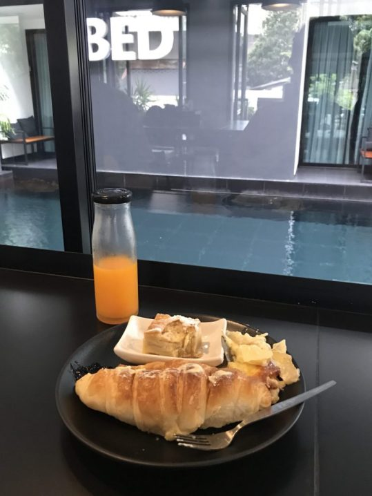 Breakfast at BED Hotel, Chiang Mai, Thailand