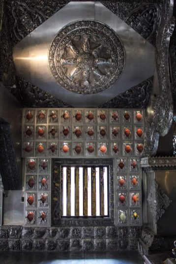 Details of the inside of Wat Sri Supan the silver temple in Chiang Mai Thailand