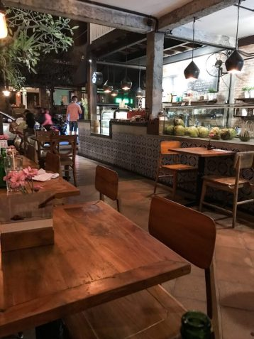 Dinner at Watercress Cafe in Ubud, Bali Indonesia