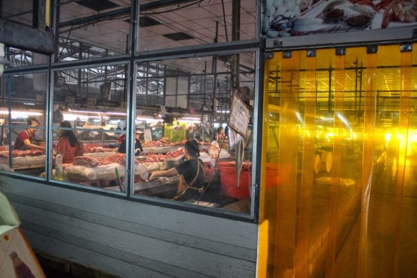 Meat room at the local market in Chiang Mai