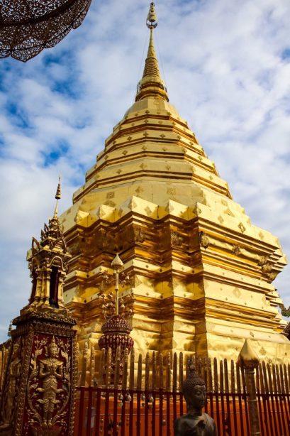 Golden chedi at Wat Phra That Doi Suthep Chiang Mai