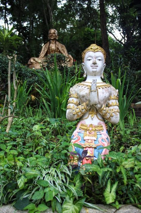 Statues at the base of Wat Phra That Doi Suthep