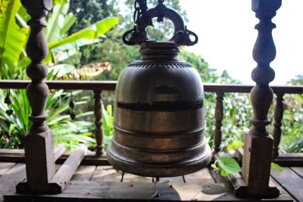 Meditation bell at Wat Pha Lat Chiang Mai Thailand