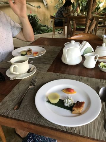 Afternoon tea at Komaneka Monkey Forest