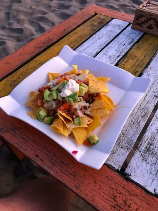 Nachos at Blue 9 Bali Seminyak