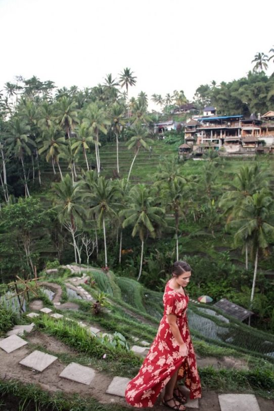 The muddy walk through Tegalalang Rice Terraces in Ubud, Bali