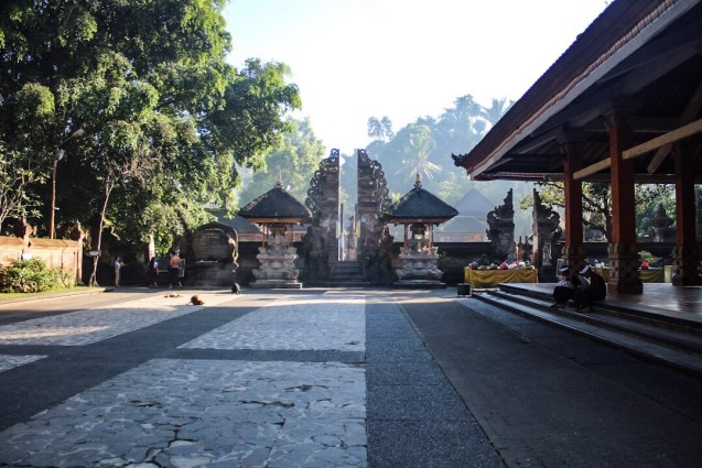 Entrance to the Holy Springs Tirta Empul Ubud Bali