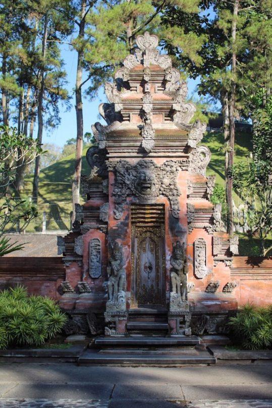 Monument at Tirta Empul Holy Springs Temple Ubud Bali
