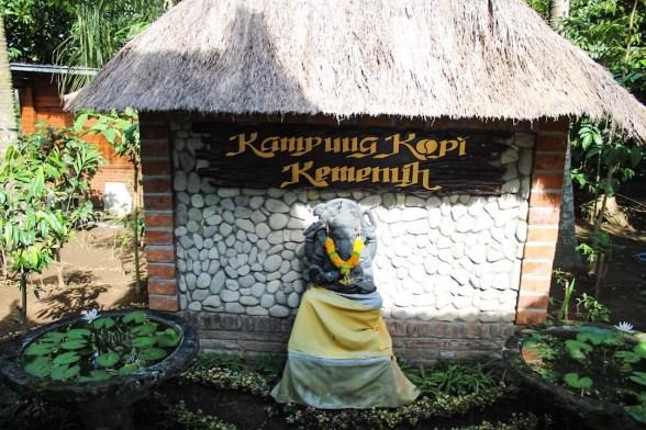 Sign at Kampung Kopi Coffee Plantation