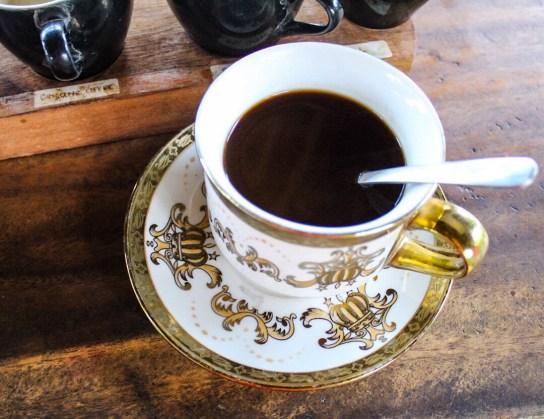 Luwak coffee at Kampung Kopi Coffee Plantation Ubud Bali
