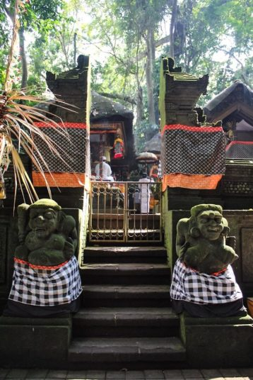 Entrance to a temple in monkey forest ubud bali