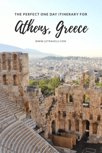 Athens, Greece one day travel itinerary | All the research has been done for you. This guide will make your travel planning easy. | #athens #greece #travelplanning #travelitinerary #athensgreece #travel