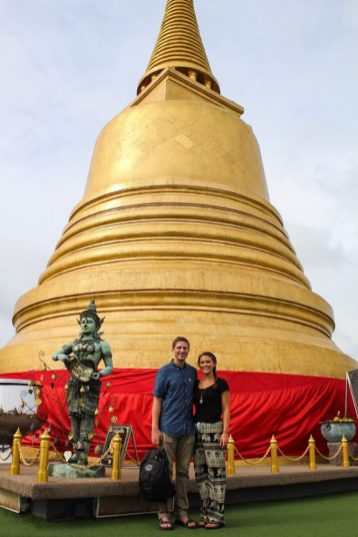 Golden Chedi at Wat Saket in Bangkok