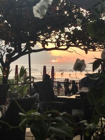 Sunset at Chez Gado Gado in Seminyak Bali