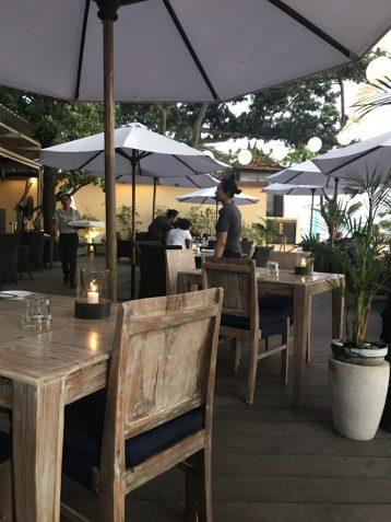 Tables at Chez Gado Gado in Seminyak Bali