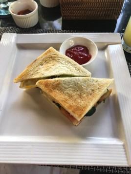 Breakfast sandwich at The Amala in Seminyak, Bali