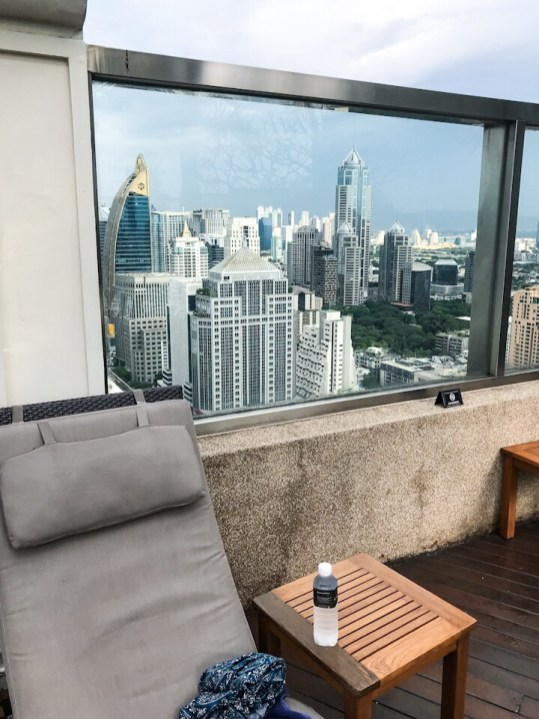 View from the rooftop pool at the Intercontinental Bangkok
