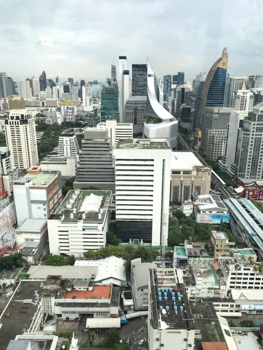 View from Rooftop pool at The Intercontinental Bangkok